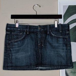 Citizens of Humanity Mini Denim Skirt Dark Wash